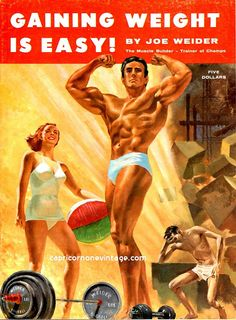 Vintage 1958 Joe Weider Magazine Gaining Weight Is Easy by CapricornOneEphemera, $10.00