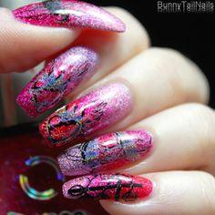 BunnyTailNails: Rainbow Hair - Gradient Nails