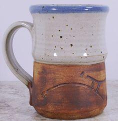 Handmade Stoneware Coffee Mug 14 Oz Rustic Colors #Unknown