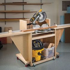 Mobile Mitersaw Stand Woodworking Plan by Woodcraft Magazine