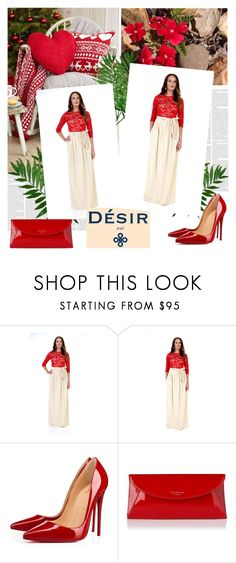 """""""Desir Vale  3"""" by followme734 ❤ liked on Polyvore featuring Christian Louboutin and L.K.Bennett"""