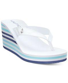 5ab4fbfe449 Nautica Landfall Platform Wedge Flip-Flop Thong Sandals Shoes - Sandals   Flip  Flops - Macy s