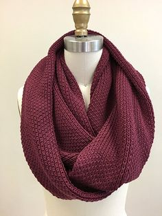 Viverano Organic Cotton Knit Infinity Loop Scarf-Soft, Non-Toxic (Total Eclipse) at Amazon Women's Clothing store: