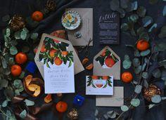 KIRSTEN SUITE // Oranges Wedding Invitation by CitrusPressCo