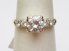 Vintage Diamond Engagement Ring, OMG this looks exactly like my ring?!