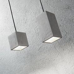 Betónové závesné svietidlo KOOL SP1 SMALL. Ceiling Lights, Lighting, Material, Home Decor, Products, Cement, Lights, Decoration Home, Room Decor