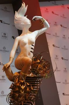 #WorldChocolateMasters Paris 2013 - Jour/Day 1 Detail of the sculpture by the Italian Davide Comaschi