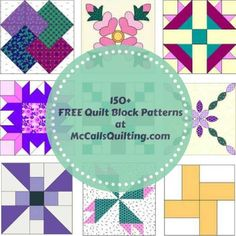 Our comprehensive library of 150+ free quilt block patterns from McCall's Quilting is updated monthly for new quilt patterns and inspiration that will become your favorite quilting resource! From easy quilt blocks to traditional quilt blocks to challenging quilt blocks, we've got a free quilt block pattern for every interest. Enjoy our quilt blocks galore!