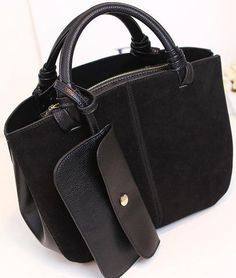 Nubuck leather go everywhere tote. Rolled handles. – Today Finds