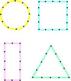 dot to dot shapes preschool