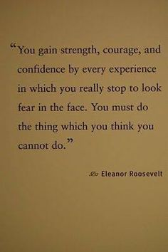 Face your fears quote