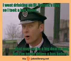 #stpatricksday #bus #drunk #drink #irish