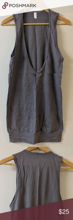 3a6c2795cc0 American Apparel top SMALL American Apparel  long  top Color  Gray Material  95%