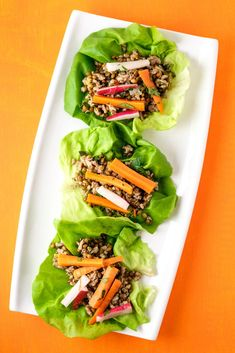 These Instant Pot Pork Lettuce Wraps have a healthy secret.   Whole grain wheat berries add a chewy whole-grain goodness to the ground pork!  Making this healthy, easy and so delicious! Instant Pot Spaghetti Recipe, Best Instant Pot Recipe, Easy Weeknight Meals, Quick Easy Meals, Pork Recipes, Healthy Recipes, Meal Recipes, Salat Wraps, Easy Pressure Cooker Recipes