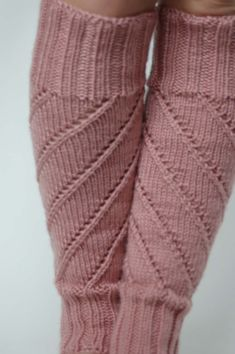 OK, I've been making legwarmers as gifts for my daughter's dance teachers, so I have for you here another legwarmer pattern. They are worked in the round with a simple spiral lace pattern which wr...
