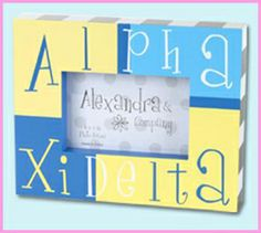Greek Sorority Block Frames