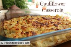 This Cauliflower Casserole was a huge hit with my family, they loved it and I hope you do to One Pot Meals, Easy Meals, Good Food, Yummy Food, Cauliflower Casserole, Lunch Specials, Amish Recipes, Lunch Recipes, Yummy Recipes