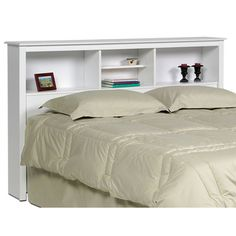 @Overstock - Add some additional bookcase-style shelving to your bedroom that is within easy reach of your bed with a Winslow white storage headboard. This wood headboard can frame a full- or queen-size mattress. The compartments can be used for storage or display.http://www.overstock.com/Home-Garden/Winslow-White-Full-Queen-size-Storage-Headboard/2202222/product.html?CID=214117 $158.33