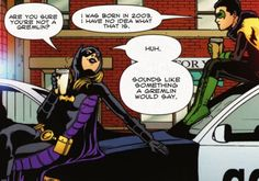 Lol I never thought I'd see a Batman/Most Popular Girls in School crossover Nightwing, Batgirl, Tim Drake, Damian Wayne, Jason Todd, Red Hood, Red Robin, Harley Quinn, Stephanie Brown