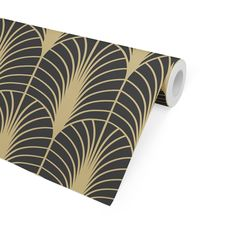 ARCHES BLACK & GOLD Peel and Stick Wallpaper By Becky Bailey - 2ft x 16ft