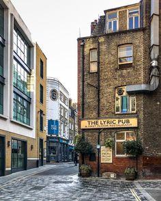 The Lyric pub in Ham Yard, Soho, London
