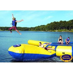Rave Sports Aqua Launch Water Trampoline Attachment   Wayfair The Blob for reals