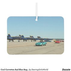 Cool Corvettes And Blue Angles Car Air Freshener