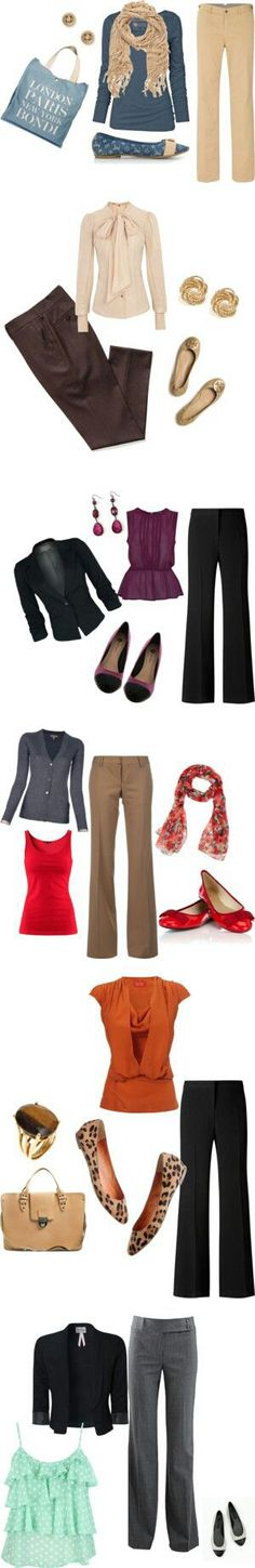 diferent outfits