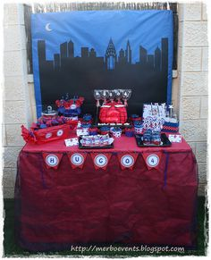 Candy bar 5 Kit de fiesta spiderman. Merbo events by Merbo Events, via Flickr