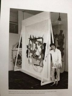 Helen Frankenthaler...size...in this case bigger is better...love her use of space in work and in studio...