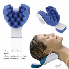 Releases Muscle Tension Relieves Tightness and Soreness Theraputic Neck Support . Releases Muscle Tension Relieves Tightness and Soreness Theraputic Neck Support Tension Reliever Neck And Shoulde Relaxe. Cardio Yoga, Neck And Shoulder Muscles, Sore Neck And Shoulders, Spine Alignment, Detox Kit, Shoulder Tension, Neck Pain Relief, Migraine Relief, Neck Pillow Travel