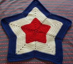 Little Star Afghan - #freepattern perfect for the 2014 Winter Olympics!
