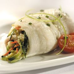 Recipes | Baked Sole Roulades with Zucchini Stuffing | Sur La Table