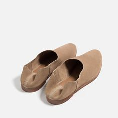 FLAT LEATHER SHOES-View all-SHOES-WOMAN | ZARA United States