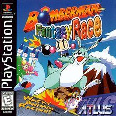 Bomberman Fantasy Race -- PS1 e PSP (não-oficial da PSN; versão que tenho)