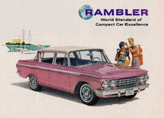 Detail from 1962 Advertisement for Rambler Automobiles