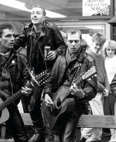 The Clash busking