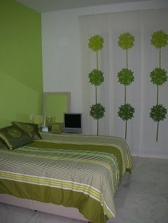 ampliar Sweet Dreams, Ideas Para, Bed, Furniture, Home Decor, Modern Curtains, Large Windows, House Decorations, Bed Designs