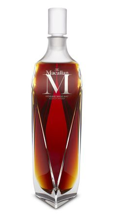 "The Macallan ""M"" six litre in Lalique – ($628,000)  The Macallan is well-know and is one of the most searched for and collected whiskies in the world. This single malt sold for just under $630,000 at a Sotheby's auction in Hong Kong in January. The bottle itself is a piece of artwork. The crystal decanter sits at twenty-eight inches tall and holds six liters of whisky. The liquid inside is a combination of sherry casks aged between twenty-five and seventy-five years old."