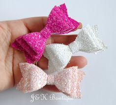Lot 2 Lavender White Polka Dot Dainty Layered Pigtail Hair Bows Set Baby Toddler
