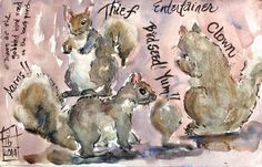http://scquiltaddict.blogspot.com/2014/09/day-71-squirrels.html  MaggieART - Margaret McCarthy Hunt: DAY 71 - SQUIRRELS