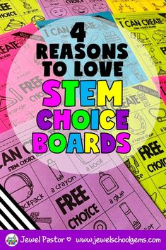 4 REASONS TO LOVE STEM CHOICE BOARDS