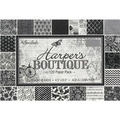 "4 1/2"" x 6 1/2"" Harper's Boutique Paper Pack"