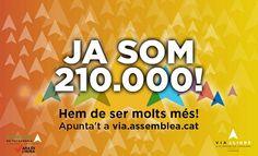 La Via Lliure ja té 210.000 inscrits però es manté la crida a omplir els trams buits ! directe!cat, 24 D'AGOST DE 2015