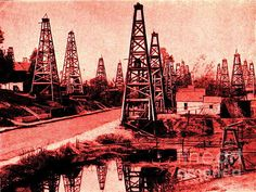 petroleum, gas and oil, oil wells