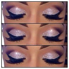 I'm gonna get over my phobia of glitter for prom. Cause I'm liking this makeup…