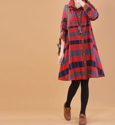 2014 Spring Cotton dress cotton shirt long by PerfectChlothing