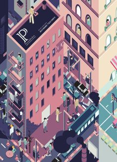 The Crowded Issue by Carrie Ho, via Behance