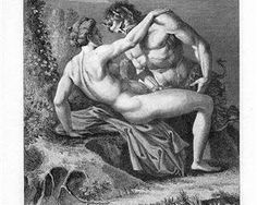 The Satyr and Nymph - Agostino Carracci