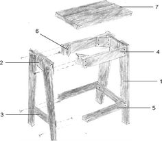 Here are step-by-step instructions for building a wooden stool for your home bar or kitchen diner. It's always handy to have extra seating for when you're enter